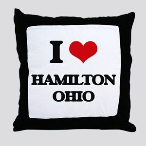 I love Hamilton Ohio Throw Pillow