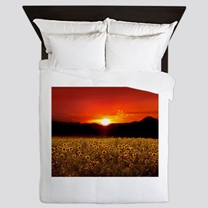 Sunflowersunset Queen Duvet