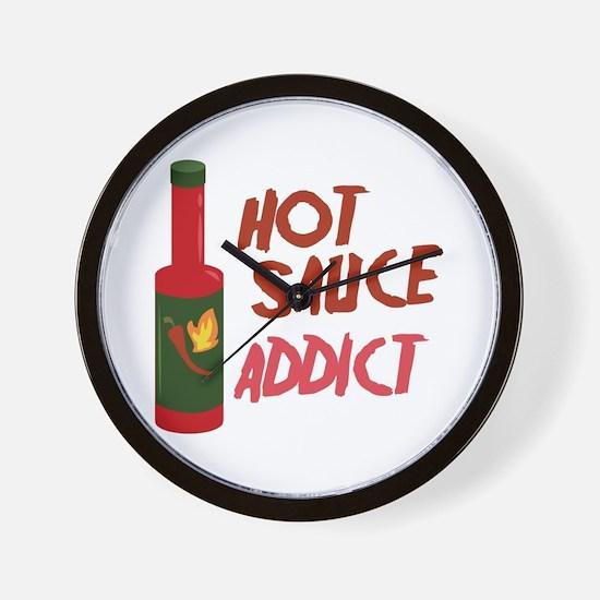 Hot Sauce Addict Wall Clock
