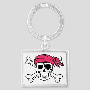 Pink Pirate Landscape Keychain