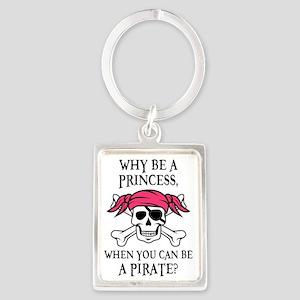 Pink Pirate Portrait Keychain