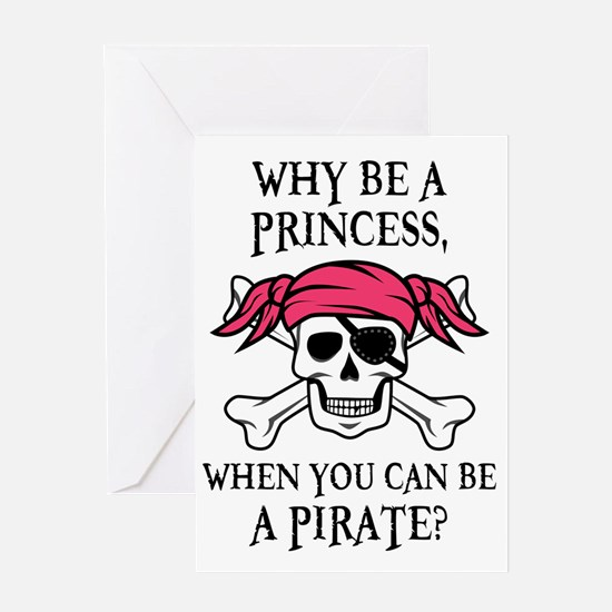 Pink Pirate Greeting Card