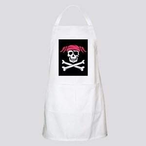 Pink Pigtail Pirate Jolly Roger Apron
