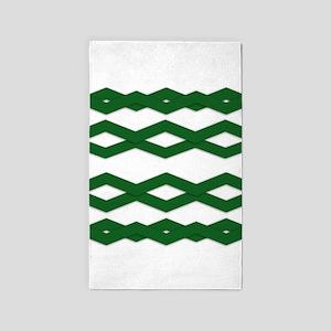 Green Zigzag Area Rug