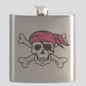 Pink Side-Ponytail Pirate Flask