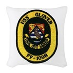 USS GLOVER Woven Throw Pillow