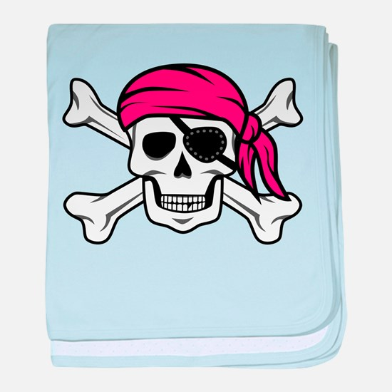 Pink Pirate baby blanket