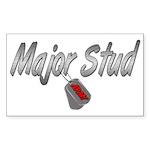 Army Major Stud ver2 Rectangle Sticker