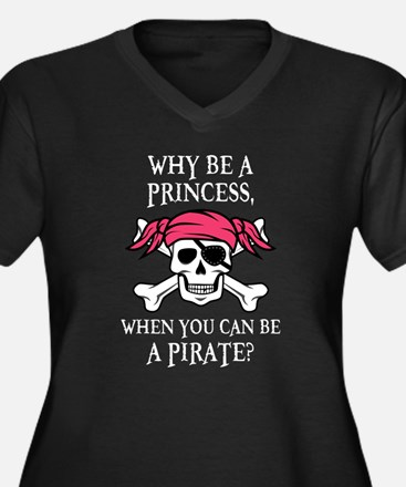 Pink Pirate Plus Size T-Shirt