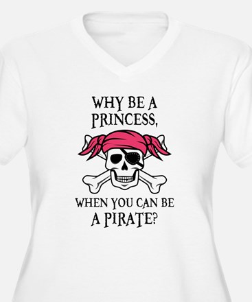 Pink Princess Pigtail Pirate Plus Size T-Shirt