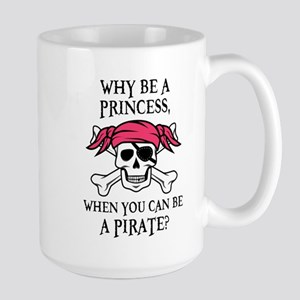 Pink Princess Pigtail Pirate Mugs