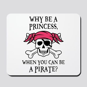 Pink Princess Pigtail Pirate Mousepad