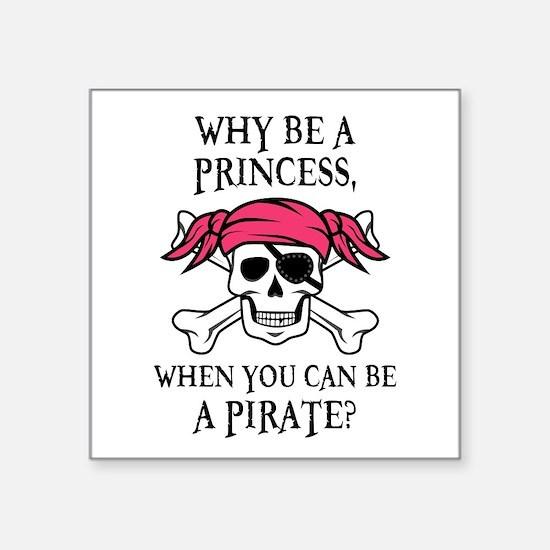 Pink Princess Pigtail Pirate Sticker