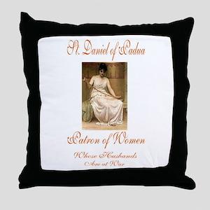 St. Daniel of Padua Throw Pillow