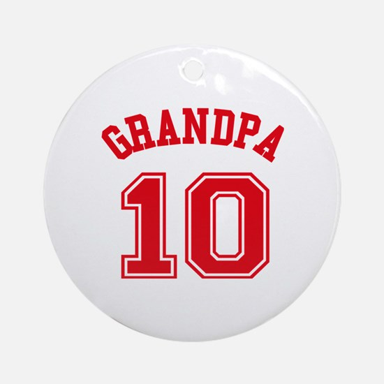 Grandpa's Uniform No. 10 Round Ornament