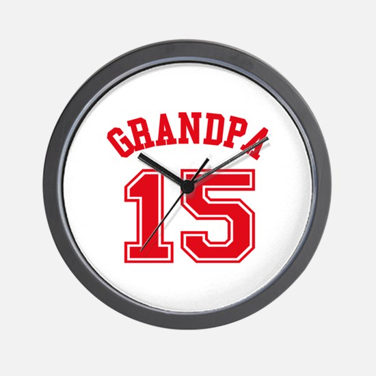 Grandpa's Uniform No. 15 Wall Clock