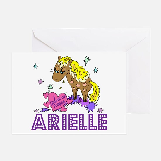 I Dream Of Ponies Arielle Greeting Card