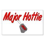 Army Major Hottie Rectangle Sticker
