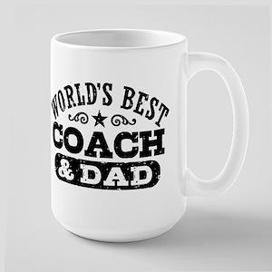 World's Best Coach & Dad Large Mug