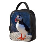 Atlantic Puffin Standing Neoprene Lunch Bag