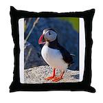 Atlantic Puffin Standing Throw Pillow