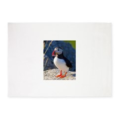 Atlantic Puffin Standing 5'x7'Area Rug