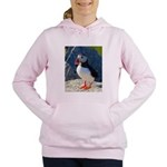 Atlantic Puffin Standing Women's Hooded Sweatshirt