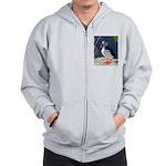 Atlantic Puffin Standing Zip Hoodie