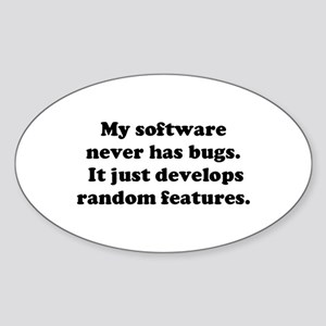 My Software has no Bugs Oval Sticker