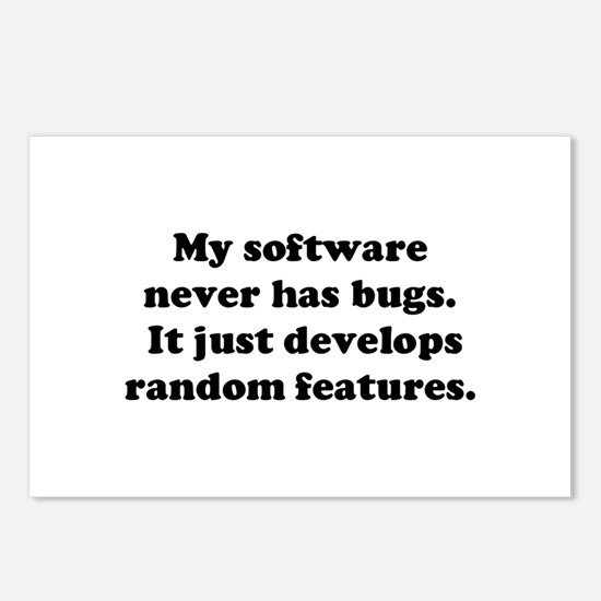 My Software has no Bugs Postcards (Package of 8)