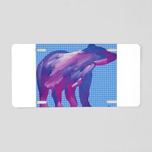 Sun Bear Aluminum License Plate