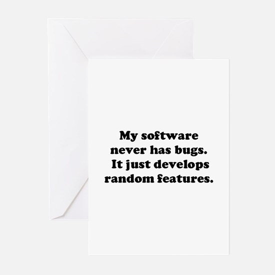 My Software has no Bugs Greeting Cards (Pk of 10)