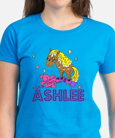 I Dream Of Ponies Ashlee Women's Dark T-Shirt