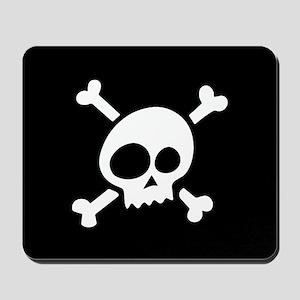 Whimsical Skull & Crossbones Mousepad