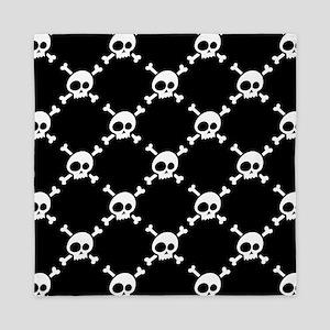 Whimsical Skull & Crossbones Pattern Queen Duvet