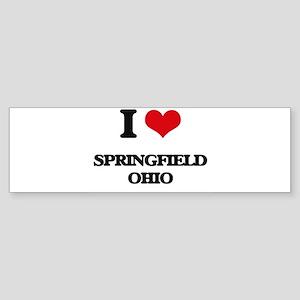 I love Springfield Ohio Bumper Sticker