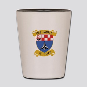USS SAMPLE FF-1048 SHIPS CREST Shot Glass