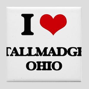 I love Tallmadge Ohio Tile Coaster