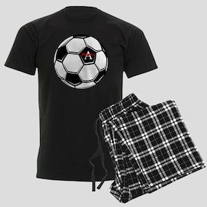 Personalized Soccer Men's Dark Pajamas