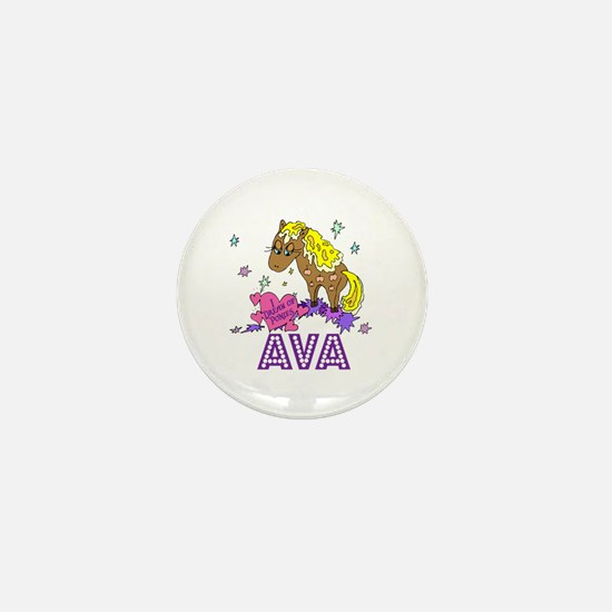 I Dream Of Ponies Ava Mini Button