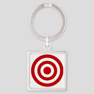Bull's_Eye Square Keychain