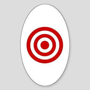 Bull's_Eye Sticker (Oval)