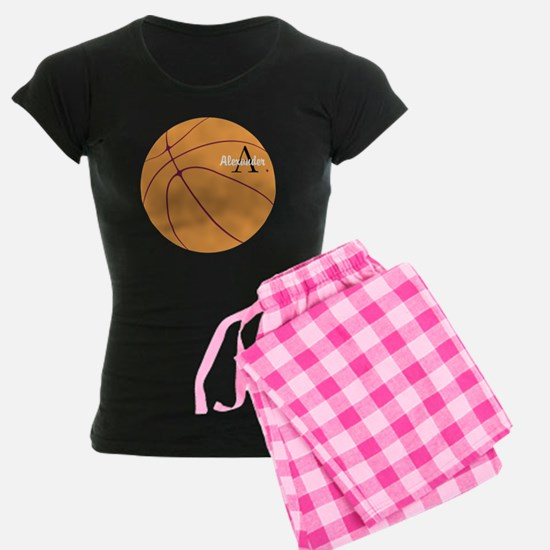 Personalized Basketball Women's Dark Pajamas