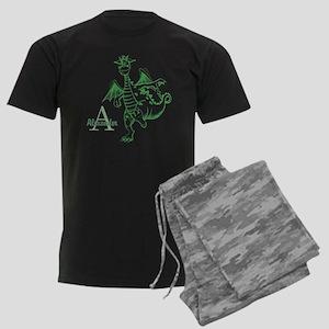 Personalized Dragon Men's Dark Pajamas