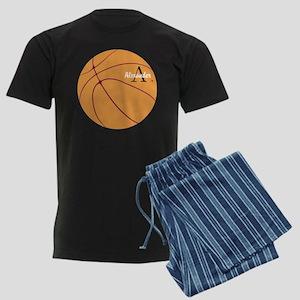 Personalized Basketball Men's Dark Pajamas