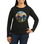 StFrancis-Basset# Women's Long Sleeve Dark T-Shirt