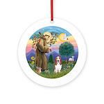 Stfrancis-Basset#3 Ornament (round)