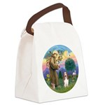 StFrancis-Basset#3 Canvas Lunch Bag