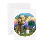 StFrancis-Basset#3 Greeting Cards (Pk of 20)