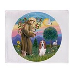 Stfrancis-Basset#3 Throw Blanket
